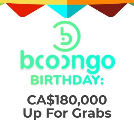 Booongo Birthday: CA$180,000 Up for Grabs