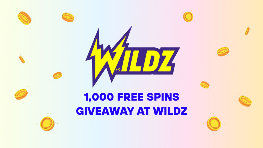 1,000 Free Spins Giveaway at Wildz
