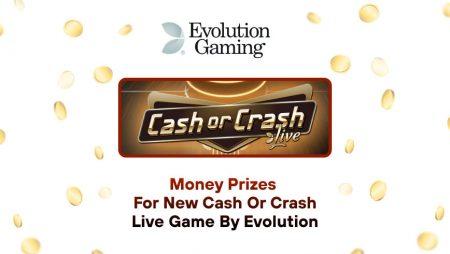 Money Prizes for New Cash or Crash Live Game by Evolution